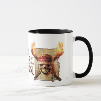 Pirates of the Caribbean Skull torches Logo Disney Mug