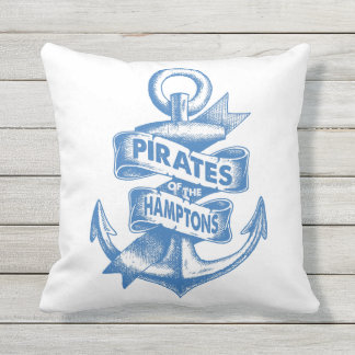 Pirates Of The Hamptons Outdoor Pillow / MSCo.