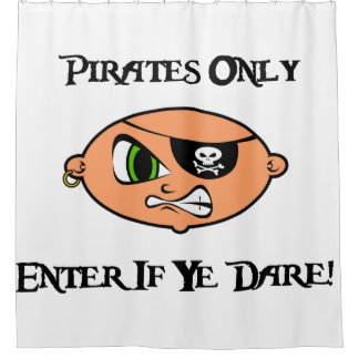 Pirates Only - Enter If Ye Dare! - Angry Cartoon