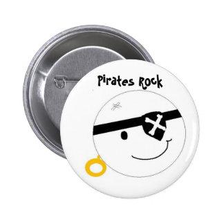 Pirates Rock 2 Inch Round Button