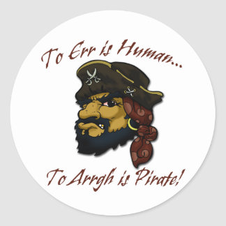 Pirates RULE! Classic Round Sticker