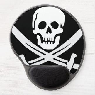 Pirates skull flag gel mouse pad