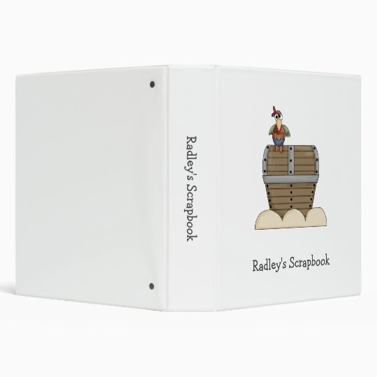 Pirates · Treasure Chest & Parrot 3 Ring Binders