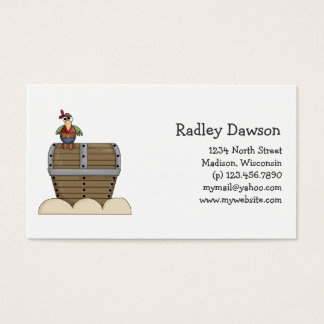 Pirates · Treasure Chest & Parrot Business Card
