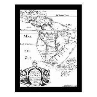 Pirates Treasure Map Postcard