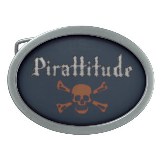 Pirattitude Oval Belt Buckle