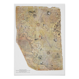 Piri Reis' World Map Posters