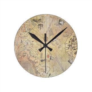 Piri Reis' World Map Wall Clock