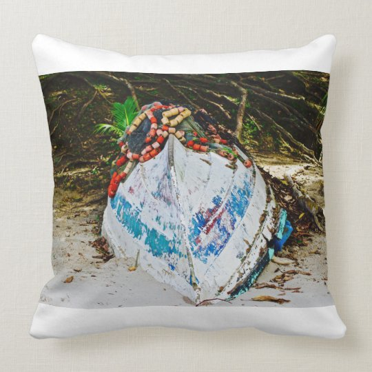Pirogues - Maracas Bay - Canvas Art - Trinidad Throw Pillow