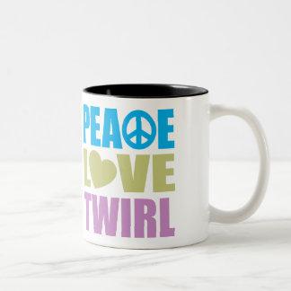 Pirouette d'amour de paix mug à café