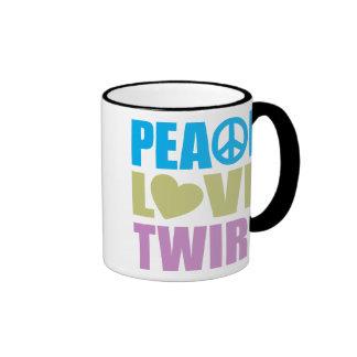 Pirouette d'amour de paix tasse à café