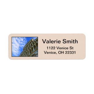 Pisa Cathedral with Love Quote Return Address Label