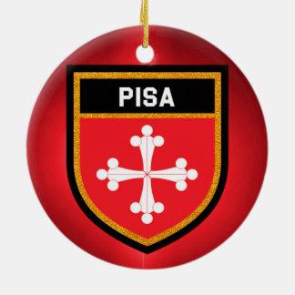 Pisa Flag Ceramic Ornament
