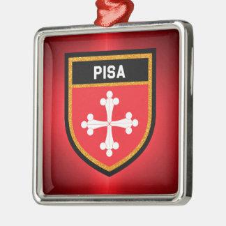 Pisa Flag Metal Ornament