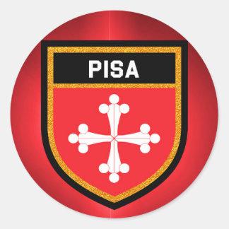 Pisa Flag Round Sticker