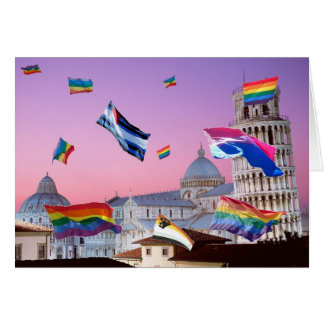 Pisa, Italy Pride Card