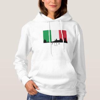 Pisa Italy Skyline Italian Flag Hoodie