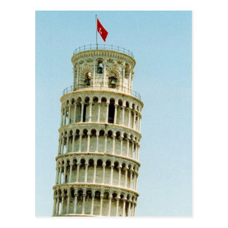 pisa leaning post card