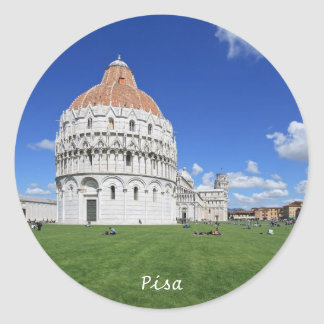 Pisa, Piazza dei Miracoli Round Sticker