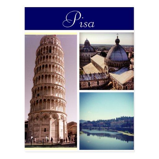 Pisa Scenes Postcard