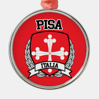 Pisa Silver-Colored Round Ornament