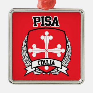 Pisa Silver-Colored Square Ornament