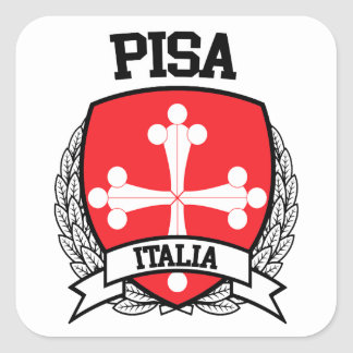 Pisa Square Sticker