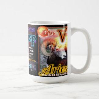 Pisces Aries cusp zodiac white 15 oz mug