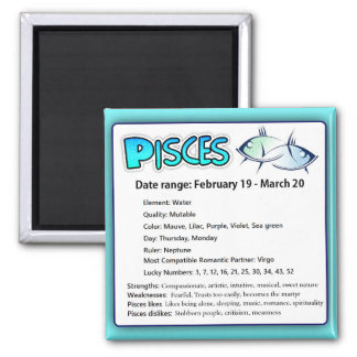 Pisces Astrological Horoscope Sign Magnet