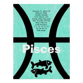 Pisces Astrological Horoscope Zodiac Sign Poster