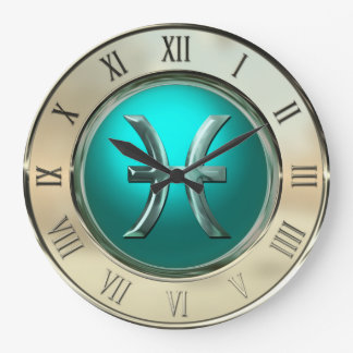 Pisces Astrological Sign Wall Clock