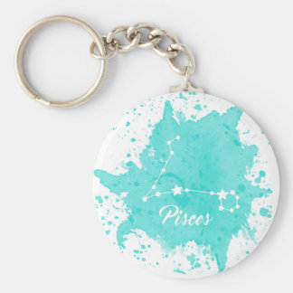 Pisces Blue Keychain