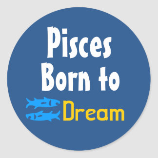 Pisces Born to rebel Round Sticker