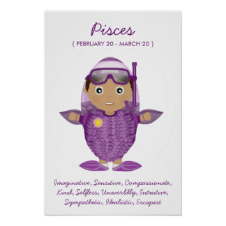 Pisces - Boy Horoscope Poster