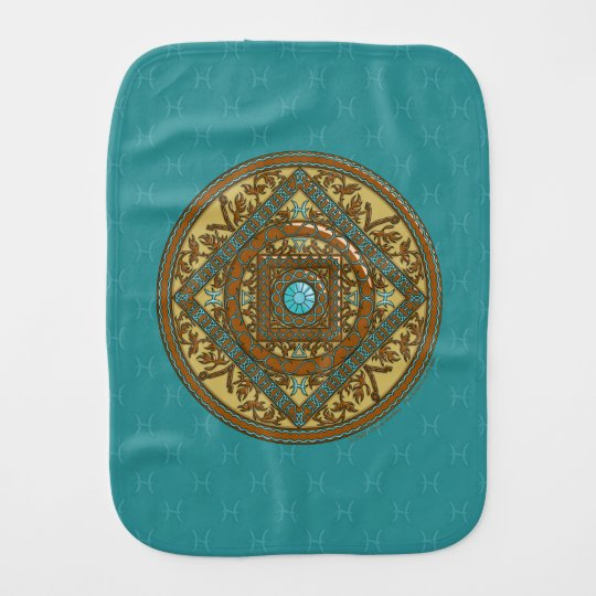 Pisces Burp Cloth