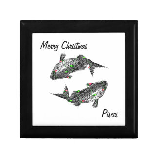 Pisces Christmast Gift Box with text