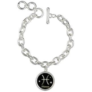 Pisces chrome symbol bracelets