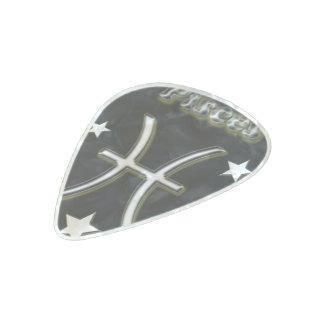 Pisces chrome symbol pearl celluloid guitar pick