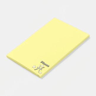 Pisces chrome symbol post-it notes
