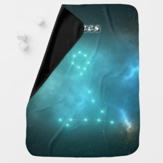 Pisces constellation baby blanket