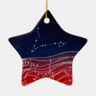 Pisces Constellation Design Ceramic Ornament