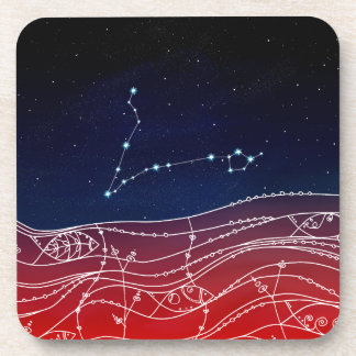 Pisces Constellation Design Coaster