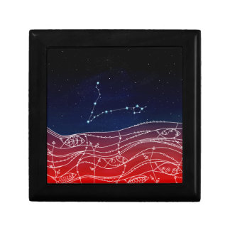 Pisces Constellation Design Gift Box