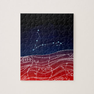 Pisces Constellation Design Jigsaw Puzzle