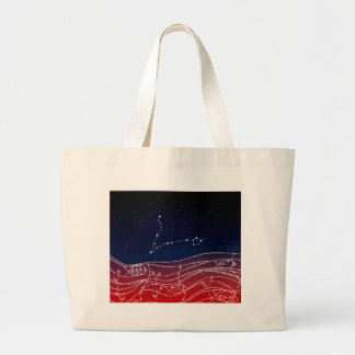 Pisces Constellation Design Large Tote Bag