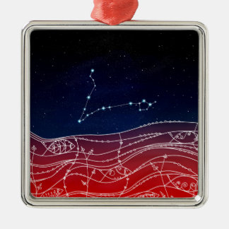 Pisces Constellation Design Metal Ornament