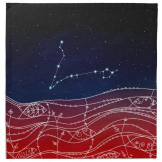 Pisces Constellation Design Napkin