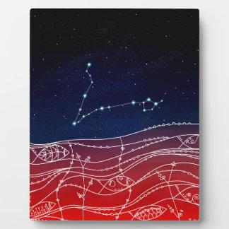 Pisces Constellation Design Plaque