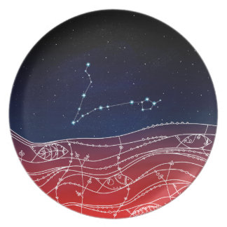 Pisces Constellation Design Plate