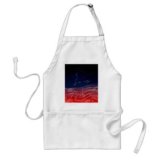 Pisces Constellation Design Standard Apron